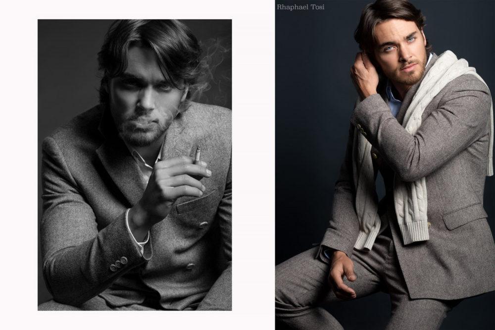 male portrait series photo retouching