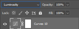 photoshop curves layer and blending mode